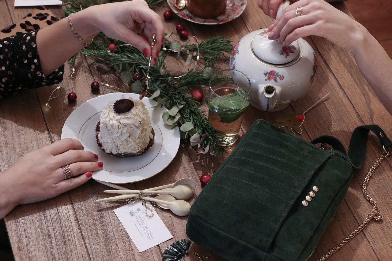 Sac Santa - B0 Lutece - Vaisselle Vintage - Cuillères en bois de chez Hector et Babel