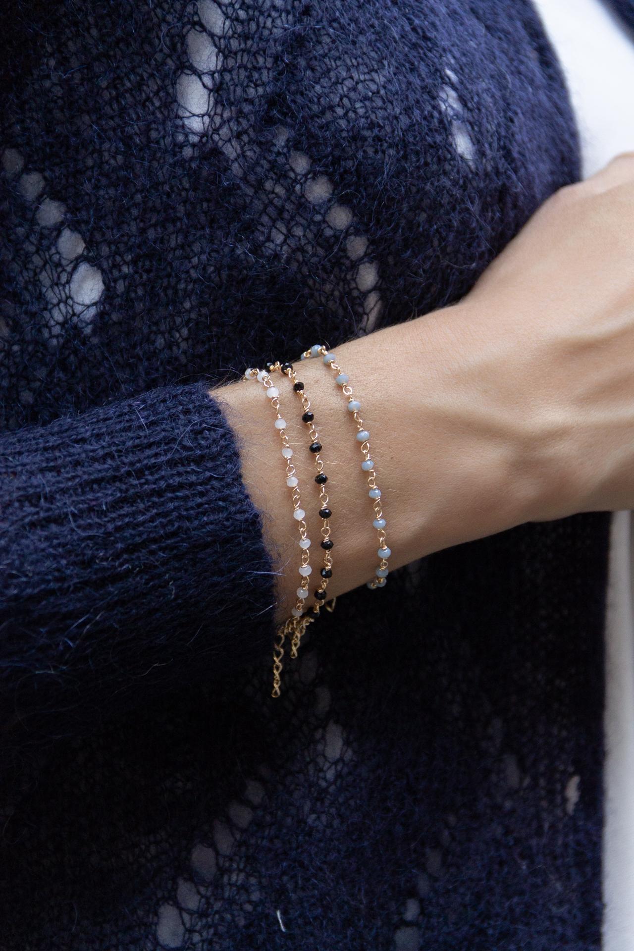 Gilet CAMILLE, Bracelet CHRYSALIDE